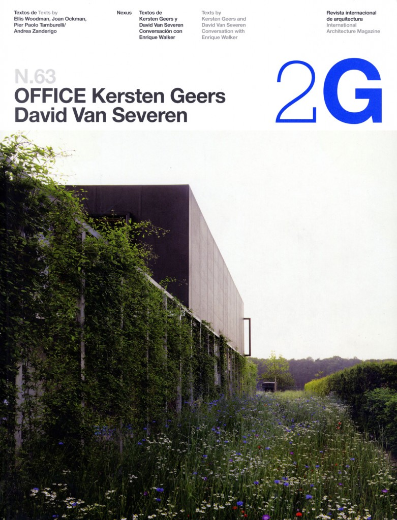 2g 63 office kersten geers david van severen out of for Architecture 2g