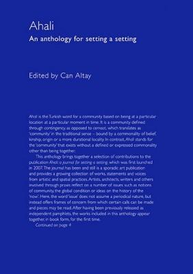Ahali: An Anthology for Setting a Setting