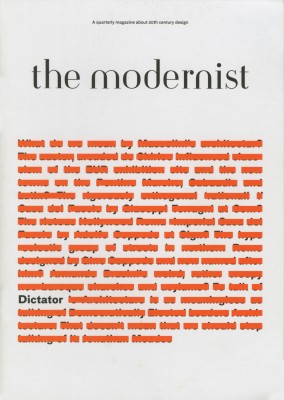 The Modernist #10: Dictator – Currently Unavailable