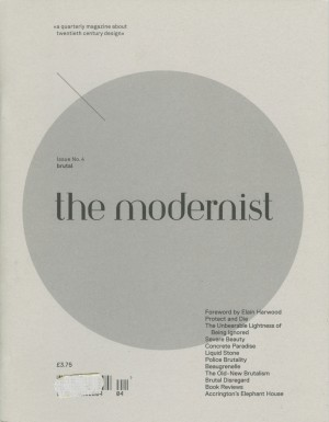 The Modernist #4: Brutal – Currently Unavailable