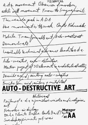 Auto-Destructive Art: Metzger at AA