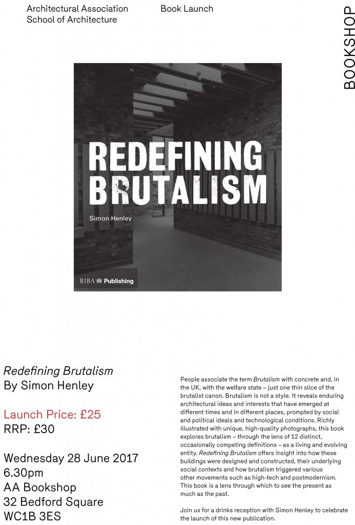 170607 Redefining Brutalism June 2017