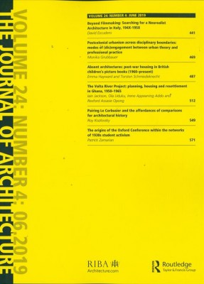 The Journal of Architecture: Volume 24: Number 8