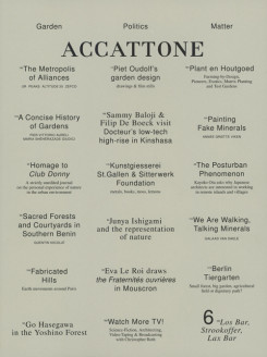 Accattone Magazine on Architecture – Issue 6
